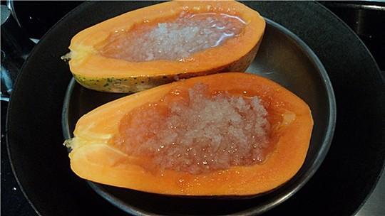 木瓜冰糖炖燕窝的做法