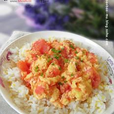 番茄滑蛋盖饭的做法
