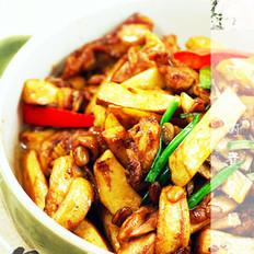 腊八豆鸡菇小炒的做法