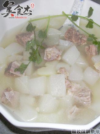 味噌牛肉萝卜汤的做法