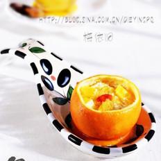 香橙牛奶蒸蛋的做法