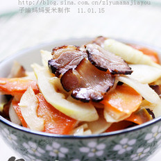 酱肉炒春笋的做法