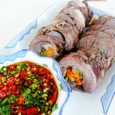 紫苏蔬菜烤羊腿的做法