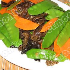 木耳炒荷兰豆的做法