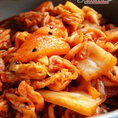 家庭简易版辣白菜的做法