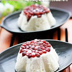 红豆蒸糕的做法