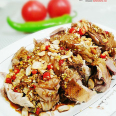 麻香红油三黄鸡的做法