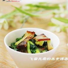 青蒜回锅腊肉的做法