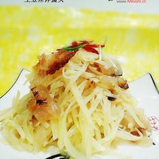 土豆丝拌蜇头的做法