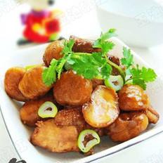 栗子燜雞塊的做法