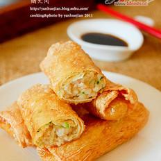 鲜虾腐皮卷的做法