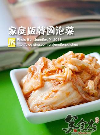 家庭版韩国泡菜的做法