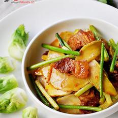 儿菜蒜苔回锅肉的做法