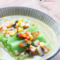 时蔬鸡汤浸莴苣笋的做法
