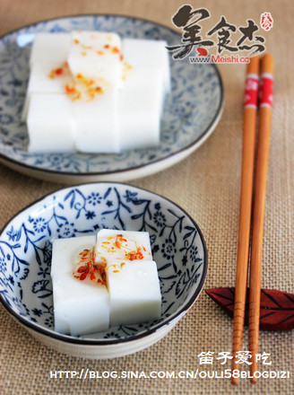 杏仁牛奶豆腐的做法
