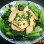 杏鲍菇炒青菜的做法