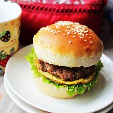 肉饼汉堡的做法