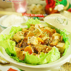 肉末豆腐煲的做法