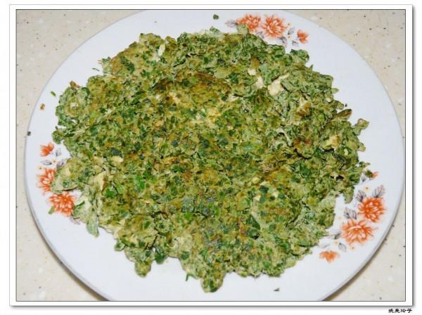 香煎荠菜饼的做法