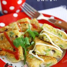 银鱼香菇煎蛋饼的做法