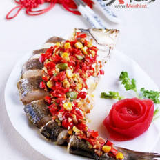 五彩剁椒鱼的做法