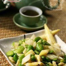 蚕豆炒春笋