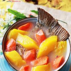 木瓜煲鱼尾的做法