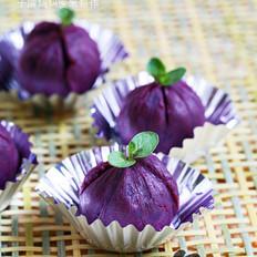 紫薯饭团的做法