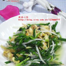 韭菜炒蛤蜊的做法