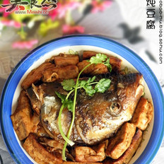 鱼头炖豆腐的做法