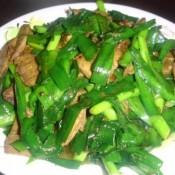 甜椒炒肝片