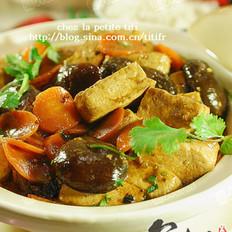 冬菇豆腐煲