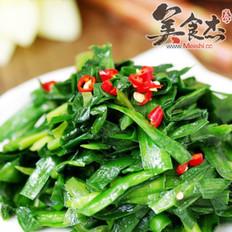 素炒韭菜的做法