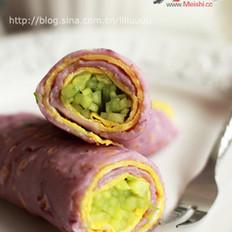 紫薯雞蛋卷餅的做法