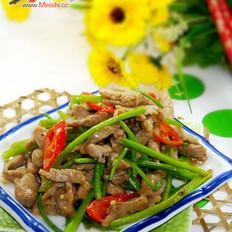 香菜梗炒肉