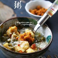 酸豇豆虾皮粥的做法