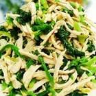 红油鸡丝菠菜