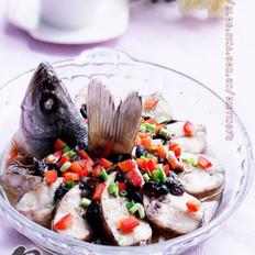 香辣豆豉蒸鲈鱼