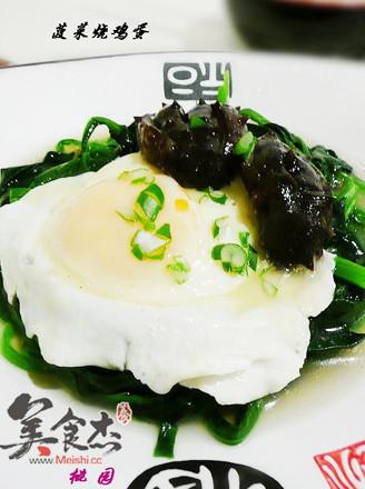 菠菜烧鸡蛋的做法