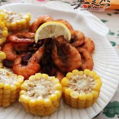 玉米咖喱虾的做法
