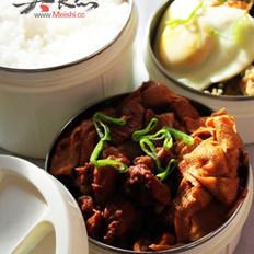 红烧肉炖干豆腐结的做法