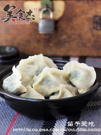 菠菜素馅饺子的做法