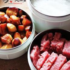 蒸午餐肉的做法