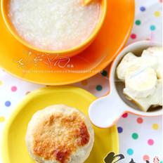 蜜豆饼早套餐的做法