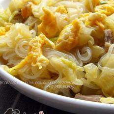 白菜粉丝炒鸡蛋的做法