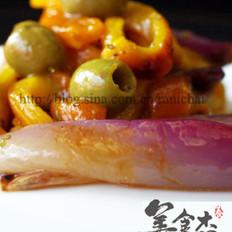 意式烤黄椒色拉