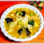 剁椒白玉菇豆腐汤