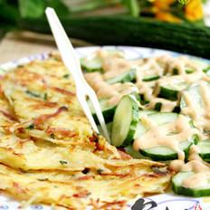 土豆培根煎饼的做法