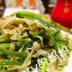 香菜拌百叶
