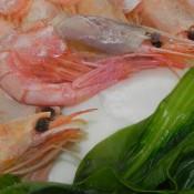 甜虾青菜面条